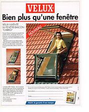PUBLICITE  ADVERTISING  1991   VELUX  fenetre de toit
