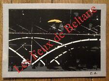 Carte postale Le Pont des  Arts au soleil , sérigraphie  , signée,Cresto