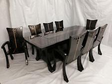 Esstisch Stammtisch Massivholz Unikat Schwarz Hochglanz