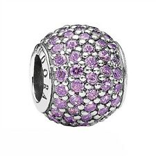 RETIRED PANDORA! NEW Pave Lights Purple CZ Sterling Silver Charm RRP $69