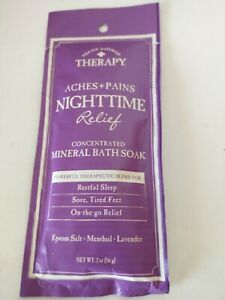 Natural Therapy Aches Pain Night Relief Concentrated Mineral Bath Soak 1 Pack