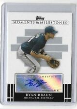 RYAN BRAUN 2008 TOPPS MILESTONE & MOMENTS CERTIFIED AUTOGRAPH