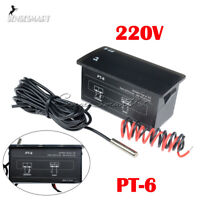 PT-6 220V -50 ℃ ~ + 110 ℃ Digital Thermometer Temperature Meter Aquarium +Sensor