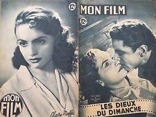 """MON FILM 1949 N 139 """" LES DIEUX DU DIMANCHE"""" CLAIRE MAFFEI et MARC CASSOT"""