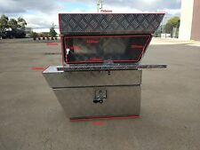 Pair Aluminium Under Tray undertray Ute/Track Tool Box L&R toolbox 750x250x400mm