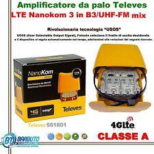 AMPLIFICATORE DA PALO LTE 3 in B3/UHF-FM-IFmix Televes NANOKOM 29dB 561801