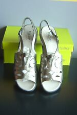 LADIES HOTTER METALLIC GOLD SLINGBACK SANDALS SIZE 9 EXF New in BOX