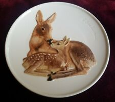 Goebel 4th Edition Mothers Series Plate 1978 Doe and Fawn Deer ~ Free Shipping