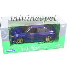 WELLY 22487 SUBARU IMPREZA WRX STI 1/24 DIECAST MODEL CAR BLUE