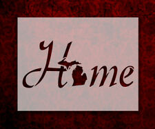 "Michigan State Home Love 8.5"" x 11"" Stencil FAST FREE SHIPPING (688)"