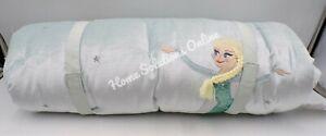"Pottery Barn Kids Disney Frozen Elsa Sleeping Bag 26x 57"" Blue Multi #6245"