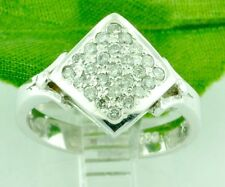 0.40 ct 14k Solid White Gold ladies Natural Diamond Ring   Pre owned