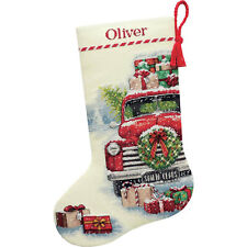 Cross Stitch Kit ~ Dimensions Santa's Truck Christmas Stocking #70-08986