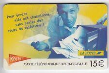 FRANCE  TELECARTE / PHONECARD  PREPAYEE .. 15€ KERTEL HOMME LA POSTE N°+MAGNETIC
