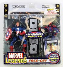 RARE FACTORY ERROR Marvel Legends Face Off Masked Captain America Vs Red Skull