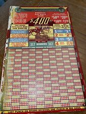 Vintage Horse Racing Gambling Punch Board UNPUNCHED