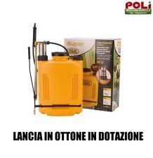 POMPA A SPALLA IRRORATRICE VOLPI 20 LT POMPANTE IN ACCIAIO INOX LANCIA IN OTTONE