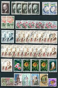 Gabon - Lot with duplicates For varieties, ( proof , imperforate ) ( 4 pages )