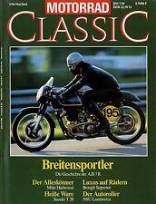 Motorrad Classic 3/90 1990 Suzuki T 20 AJS 7R CZ125 Gilera Nettuno NSU Lambretta