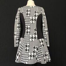 Venus Women's Black & White Fit & Flare A Lined Dress Size Med