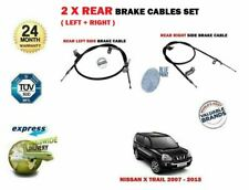 FOR NISSAN X TRAIL 2.0 2.5 DCI 2007-2014 2X REAR LEFT + RIGHT HAND BRAKE CABLE