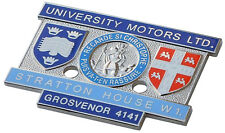 University Motors London Stratton House MG dealer dash plaque