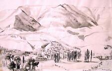 """Alwin Blaue 1896-1958 Hamburg Kiel / Zeichnung """"bei Jalta"""" 23.9.1943 Kriegsmaler"""