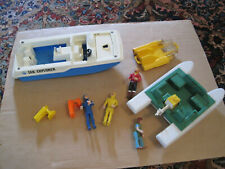 Fisher Price Sea Explorer, other boats, figures, etc. lot