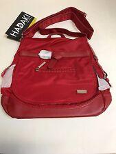 Hadaki Kiko Saddle Bag  Crossbody Flap Satchel  Purse 15 x 13 RED - NWT