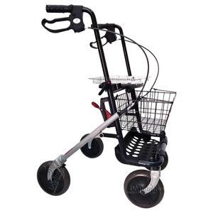 Deambulatore 4 ruote per anziani rollator con seduta girello carrello pieghevole
