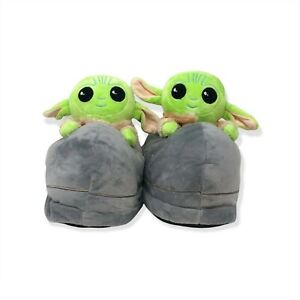 Star Wars The Mandalorian Baby Yoda Slippers - One Size For Adults