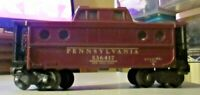 LIONEL 6417 PRR PORTHOLE CABOOSE LIGHTED DIECAST TRUCKS HAS A FEW SPECS OF RUST