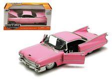 Jada 1:24 W/B Big Time Kustoms 1959 Cadillac Hard Top Diecast Car Pink 96801 Pk