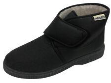Pantofole alte invernali da uomo nere interno di lana con Strappo. Emanuela 591