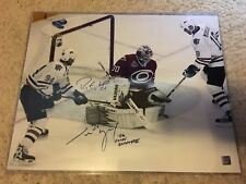 Ryan Smyth & Cam Ward Signed 2006 Stanley Cup Final 16X20 Photo w/2006 Cup Patch