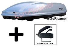 BOX AUTO FARAD MARLIN F3 N7 680LT GRIGIO METALLIZZATO - BAULE PORTABAGAGLI TETTO