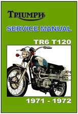 TRIUMPH Workshop Manual T120 & TR6 TR6C 1971 to 1972 FACTORY Service & Repair