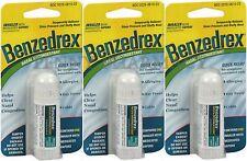 Benzedrex Nasal Decongestant Inhaler 1 Each ( 3 Pack )  LIMIT 2 to an ORDER