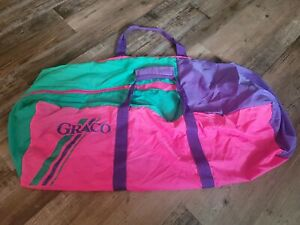 Graco Pack N Play Replacement Bag Carrying Case Travel Zip Carry pink purple