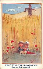 POSTCARD  COMIC    CHILDREN   What will the harvest  be                   GILSON