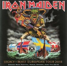 """IRON MAIDEN - LEGACY OF THE BEAST TOUR """"SWEDEN ROCK 2018"""" - 2CD CARDBOARD SLEEVE"""