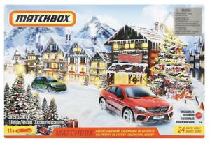 2021 Matchbox Advent Calendar w/ 11 Vehicles / 7 Accessories / HUDSON / VW GOLF
