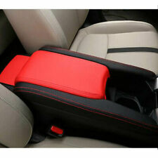 For Honda Civic 16-18 Center Armrest Box Surface Case Cover Trim Leather BlK&Red