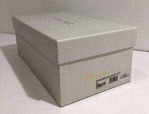 "Santoni (Empty) Cream/Gold Cedar Men's Shoe Box  14"" x 7.5"" x 5"" W/ COA & Tissue"