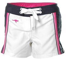 J1643 KangaROOS Damen Boardshorts Badeshorts Bade Shorts Weiß-Marine 36