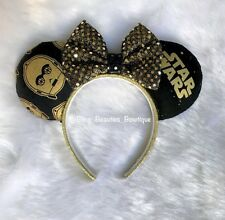 C3PO Star Wars Minnie Mickey Mouse Ears Headband Disneyland World