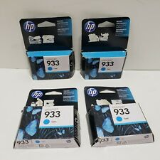 HP 933 Cyan Ink Genuine New Lot of 4 Exp 03/2016