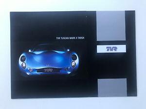 TVR Tuscan Mk II Targa 2005-06 UK Market Foldout Sales Brochure 3.6 4.0 Litre