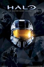 HALO ~ COLLAGE MASTER CHIEF ~ 22x34 VIDEO GAME POSTER XBOX 360 NEW/ROLLED!