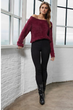 Elan Long Sleeve Off the Shoulder Sweater (Assorted Colors)